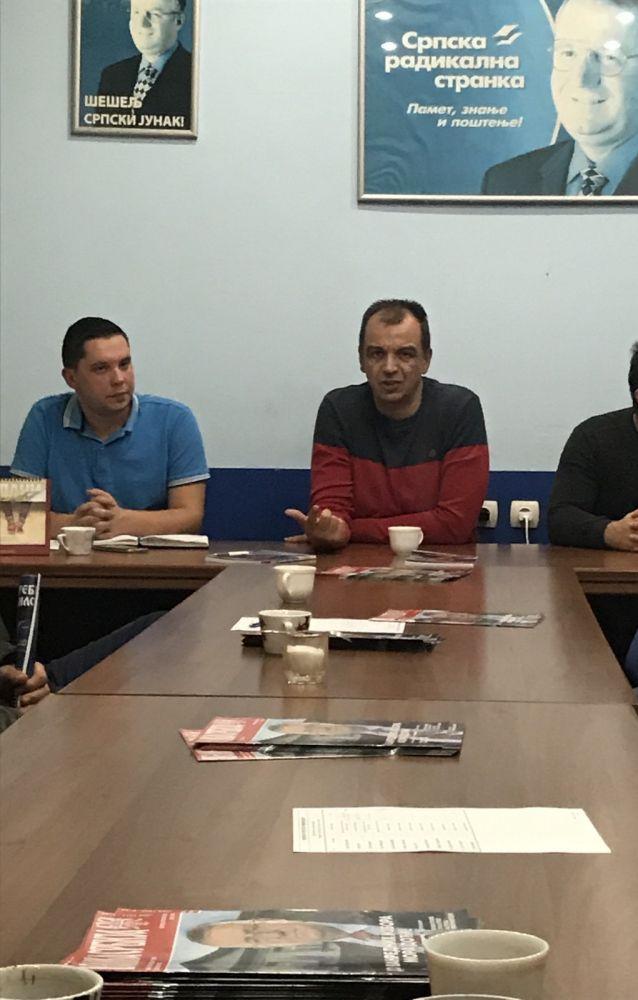 Председник Извршног одбора СРС Ђурађ Јакшић обишао Расински окружни  одбор