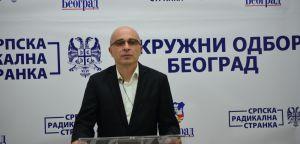 Konferencija za novinare Okružnog odbora Beograd Srpske radikalne stranke u prostorijama Opštinskog odbora Savski venac,  14. oktobar 2020. godine