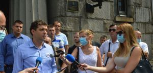 Конференција за новинаре испред Уставног суда Србије,  18. август 2020. године