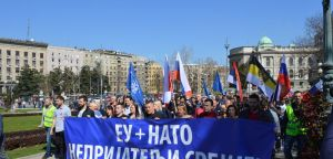 Protest povodom godišnjice NATO bombardovanja i izricanja sramne presude Radovanu Karadžiću, 24. marta 2019. godine