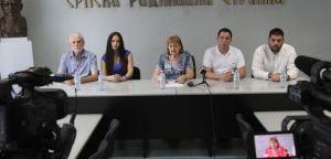 Конференција за новинаре Српске радикалне странке, 8. јул 2021. године