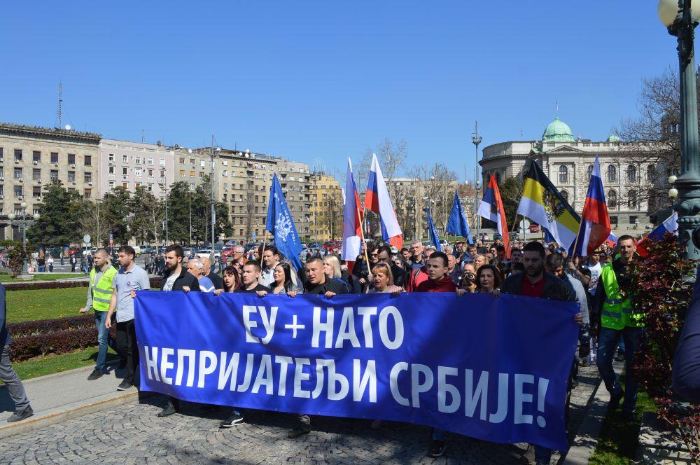 Протестни скуп Српске радикалне странке поводом две деценије од НАТО бомбардовања!